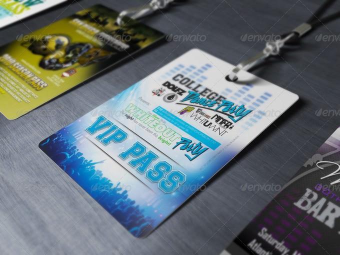 Multipurpose VIP Pass Card Mock-up PSD