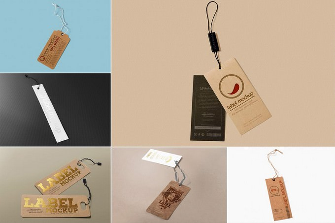 Multipurpose Label Tag Mockup