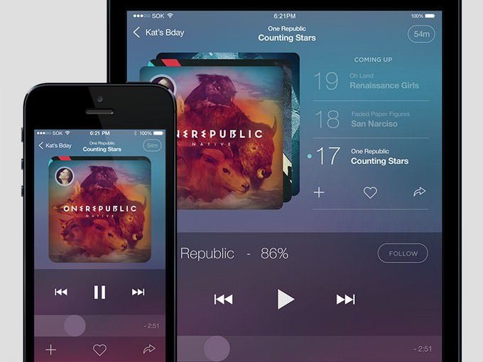 App PSD Music Player