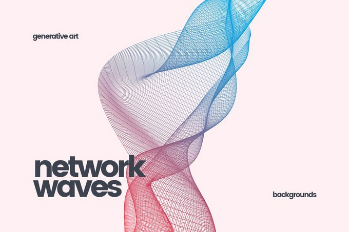 Network Waves Background