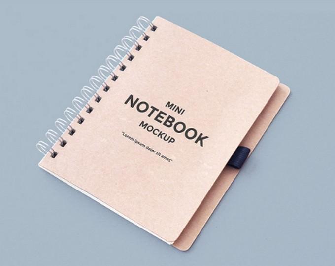 Mini diary PSD Mockup template