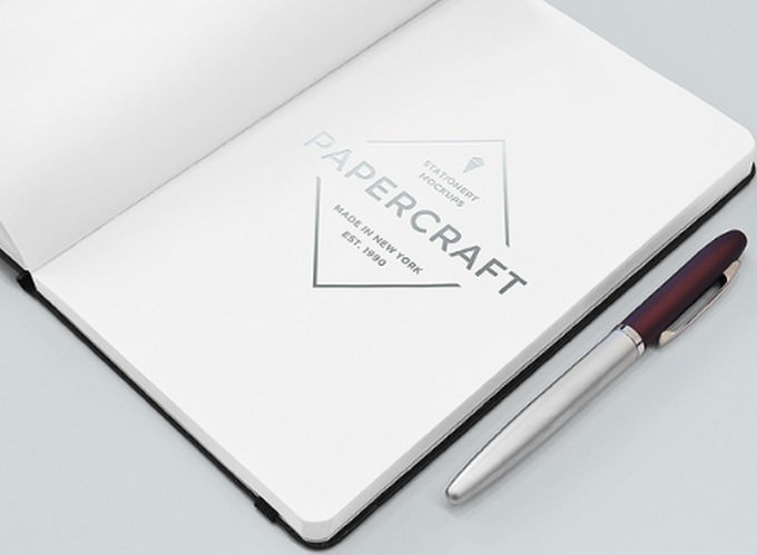 Notebook With Logo Mockup