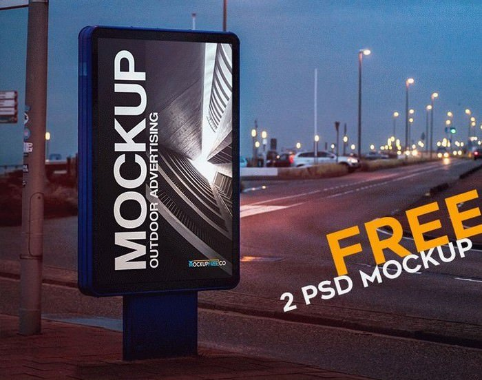 Outdoor Advertising 2 Free PSD Mockups