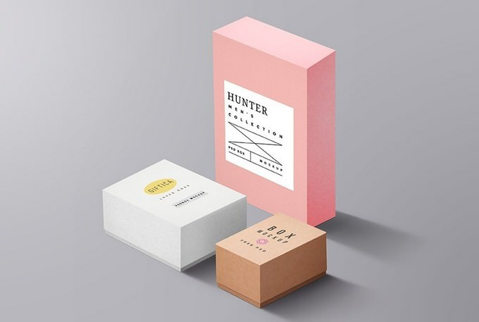 Packaging Boxes Mockup