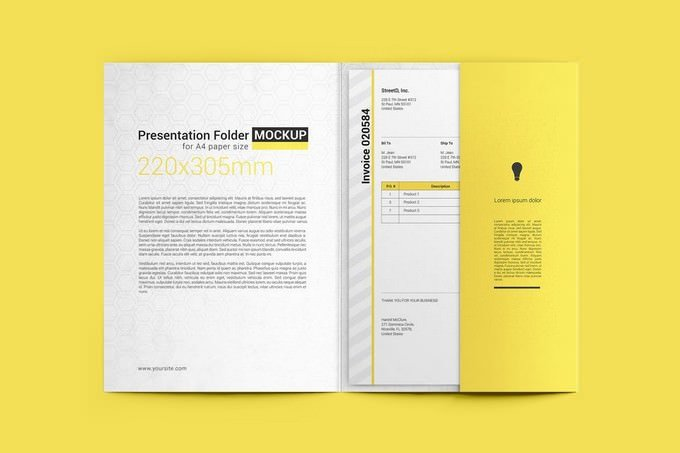 Paper Folder Mockup PSD