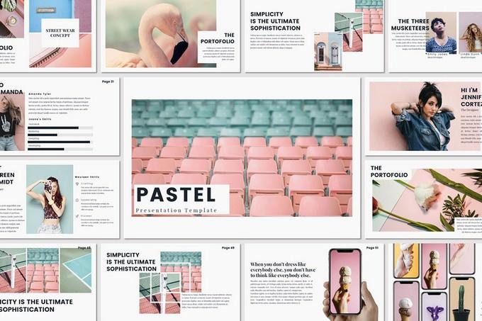 Pastel Feminine Creative PowerPoint Template