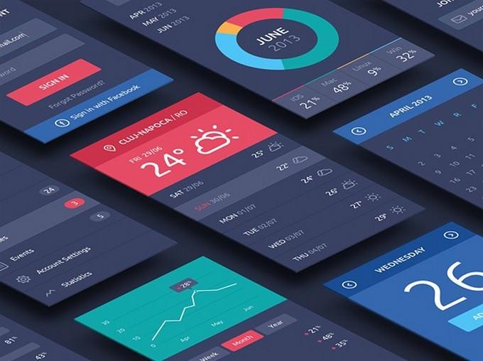 Perspective App Screens PSD