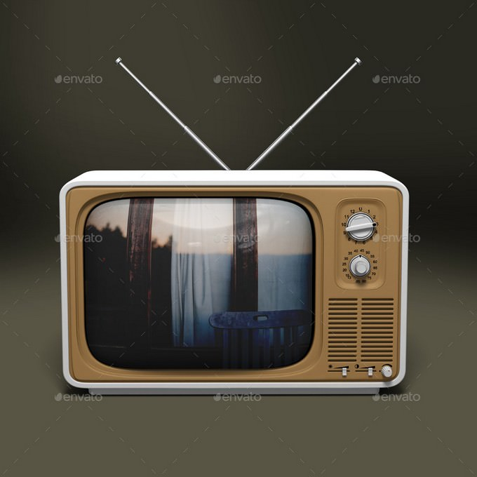 Photo-realistic Old TV