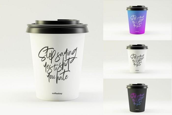 Photorealistic Coffee Cup Mockup