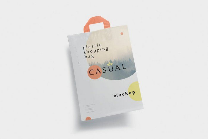 Plastic Shopping Bag Mockup