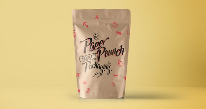 Psd Paper Pouch Packaging