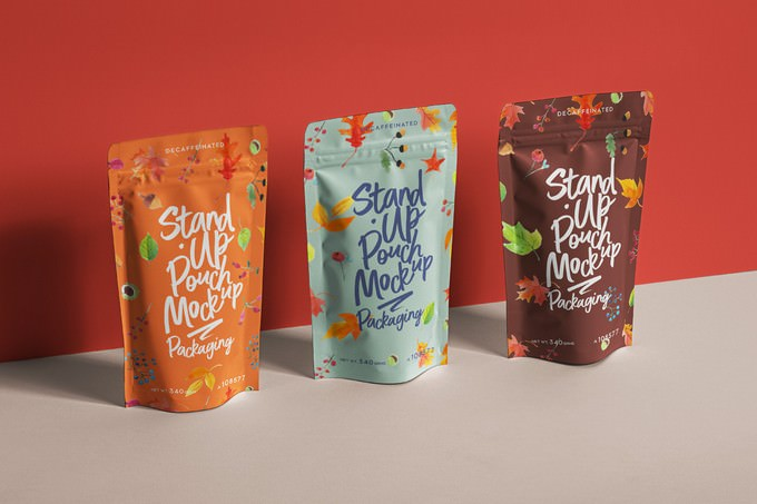 Psd Stand-Up Pouch Packaging Mockup 2