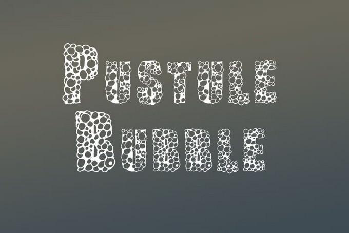 Pustule Bubble Letter Fonts