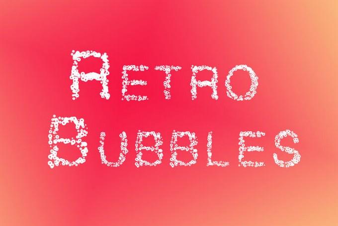 Retro Bubble Letter Fonts