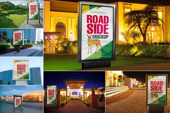 Roadside Billboard Mockup