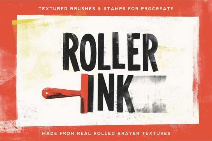 Roller Ink Procreate Pack