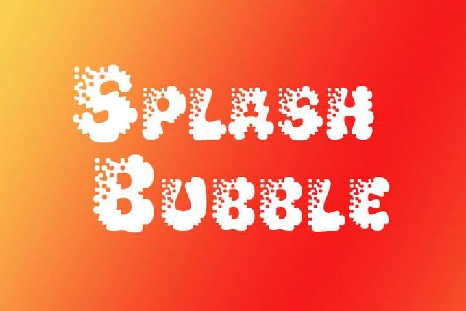 Splash Bubble Letter Fonts