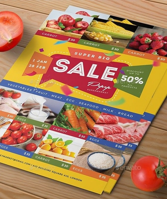 Supermarket Product Flyer