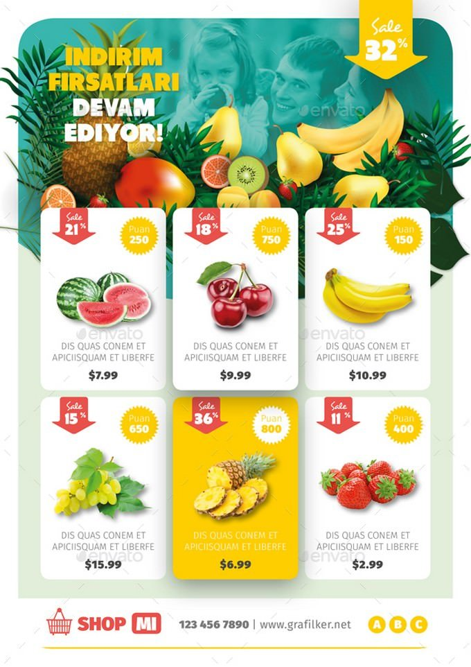 Supermarket Products Flyer