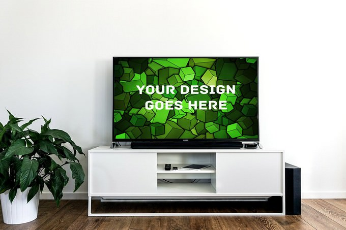 Television Display Mock-up
