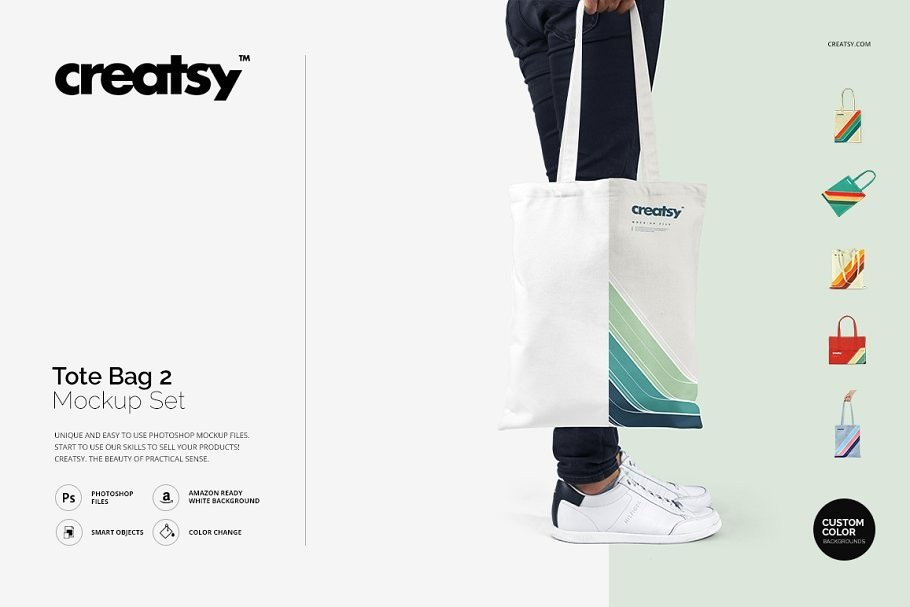 Tote Bag V2 Mockup Set