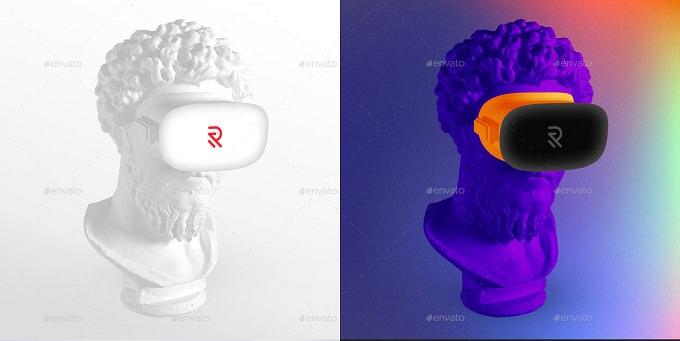PSD VR + Device Sculptures Mock-Up