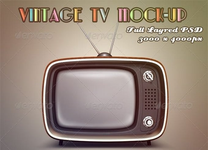 Vintage Television PSD