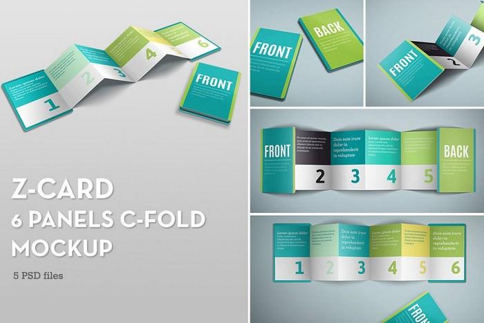 Z-Card Mock-up - 6 Panels