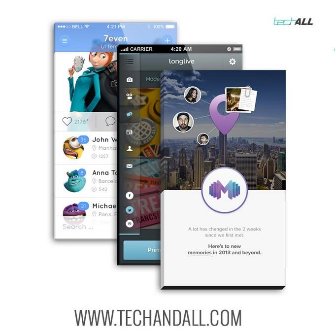 PSD iPhone App Front Screen