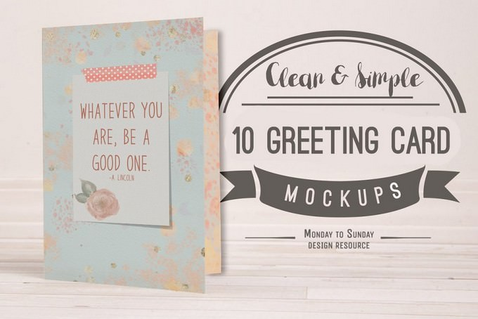 10 A7 (5x7) Greeting Card Mockup