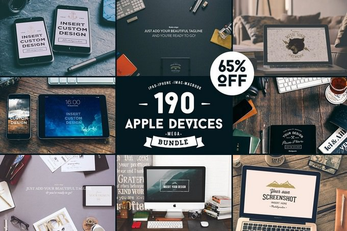 Apple Digital Devices Mockup MEGA Bundle