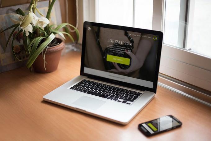 Free Smartphone & Notebook PSD Mockups