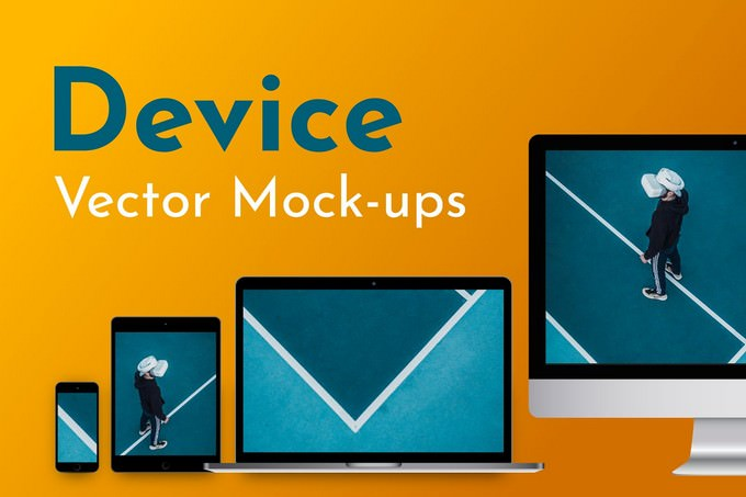 9 Vector Digital Devices Mockup PSD