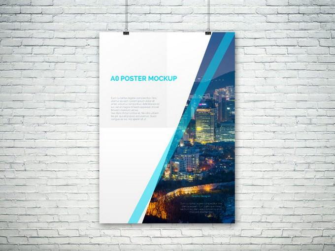 PSD Poster Mockup