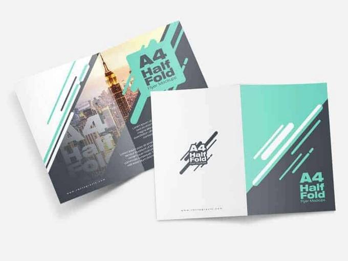 A4 Half Fold Flyer PSD