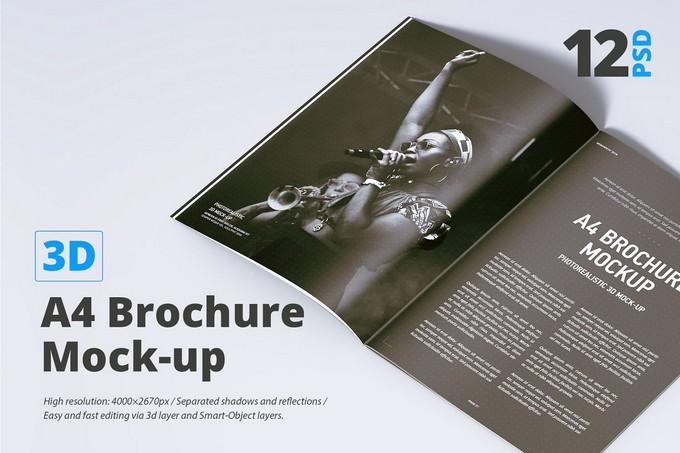 A4 Magazine Brochure PSD