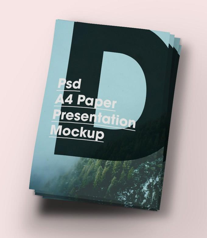 A4 Paper Brochure PSD Mock-Up