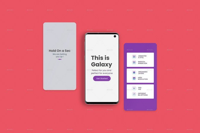 Animated Smartphone App Mockup