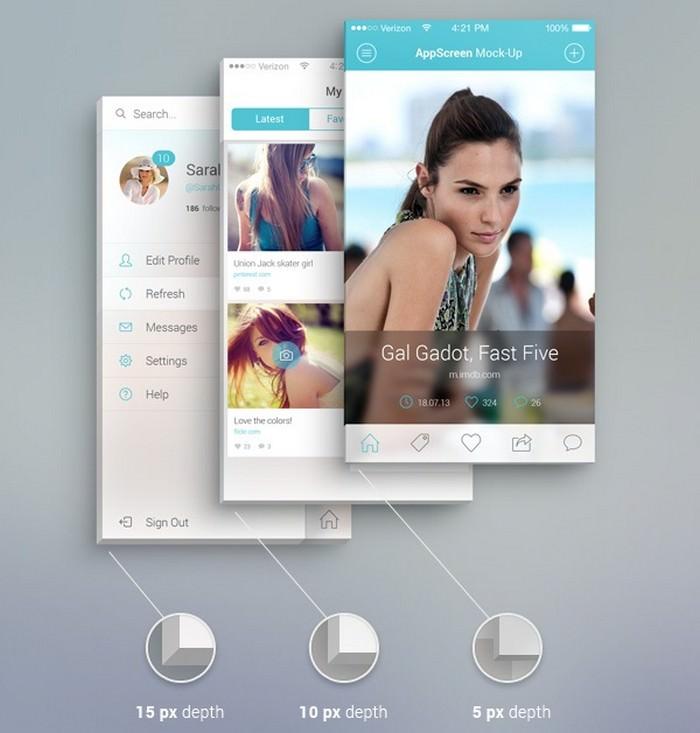 App Screen Front Mockup