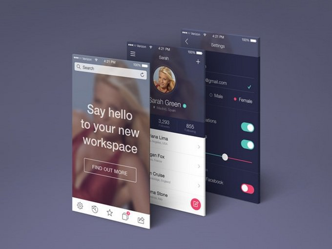 App Screens Perspective