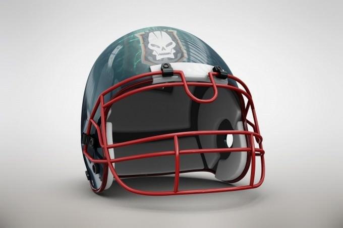 Blue Helmet Mock-up PSD