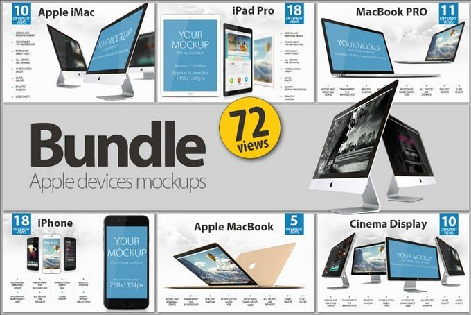 Bundle Apple Digital Devices Mockup