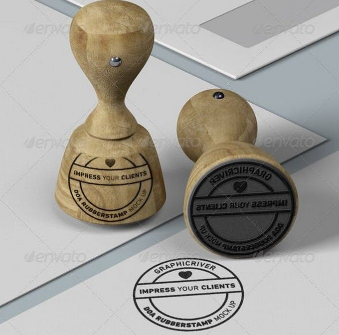 Rubber Stamp and Stationary Mock Up