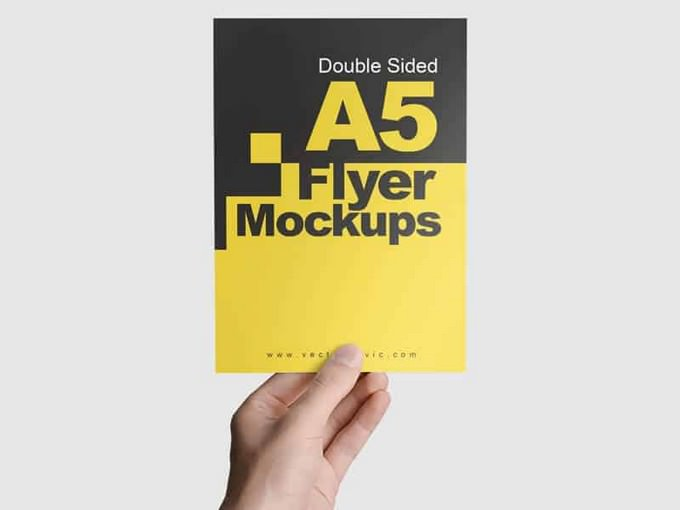 Double Sided A5 Flyer PSD
