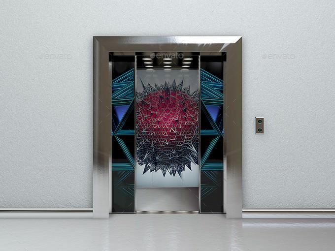 Elevator Mockup PSD