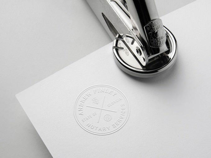 Embossing Seal Stamp Mockup