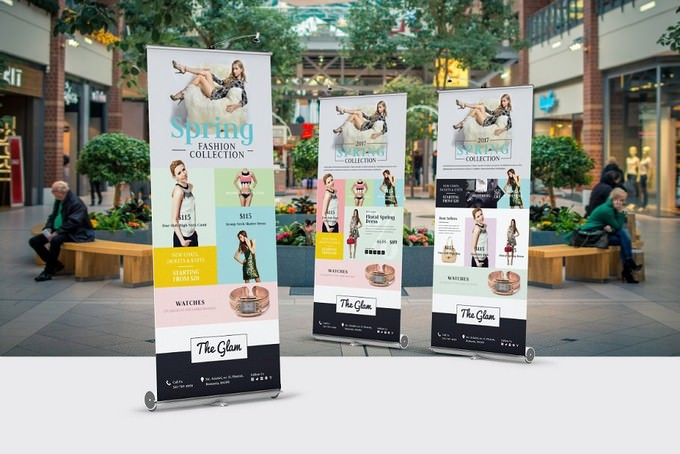 Fashion Roll-Up Banner PSD