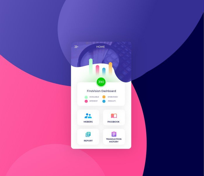Finovision App Mockup PSD