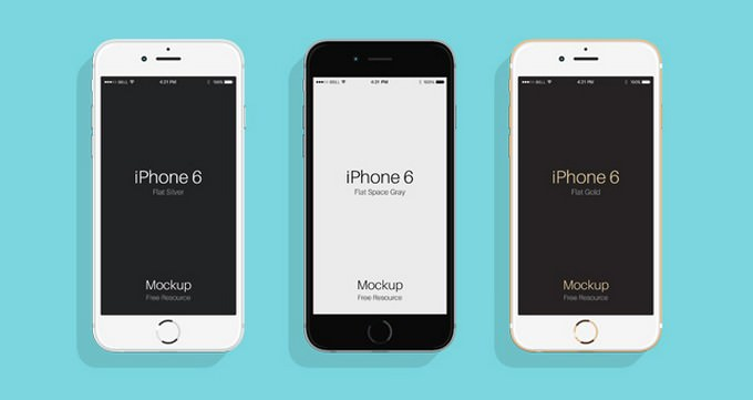 Flat Psd iPhone Mockup