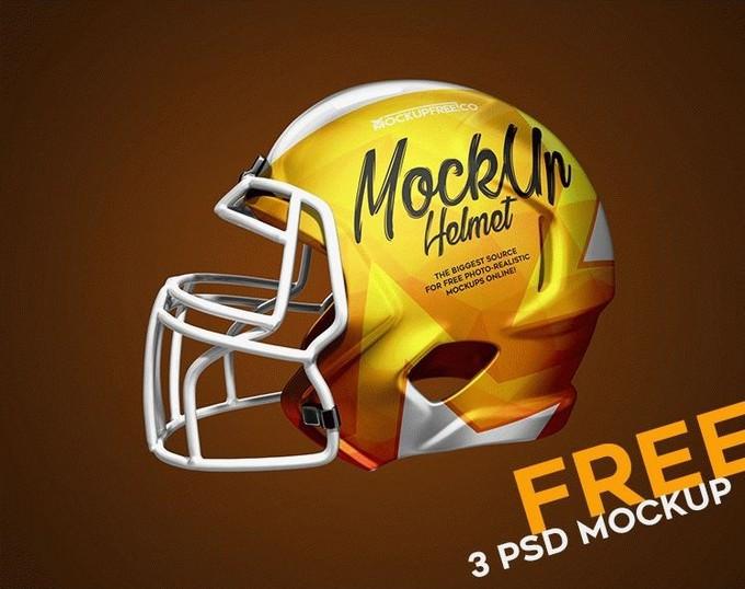 Football Helmet 3 PSD